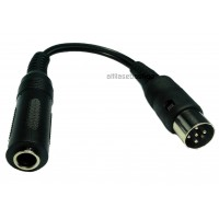 6.3mm stereo jack female to 5-pin DIN plug dice 18cm cable