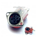 DIN dice chassis socket  5 pole, with switch