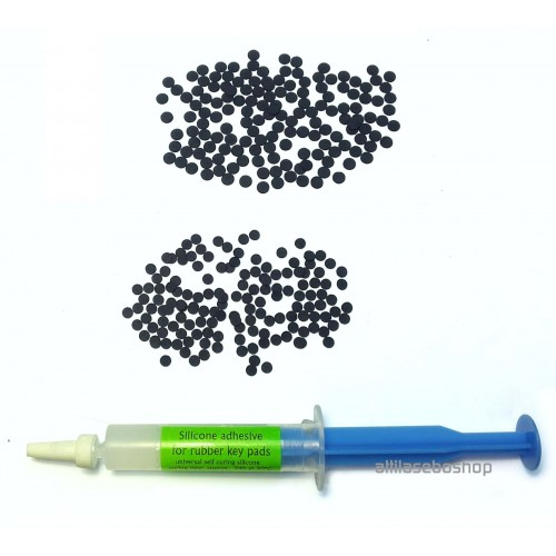 key pad repair -keypad fix KIT, 300pcs of 3mm and 4 mm conductive pads and adhesive for keyboadrs