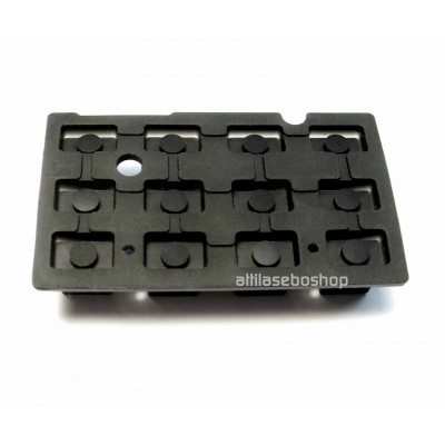 silicone rubber keypad  3 x 4 pads