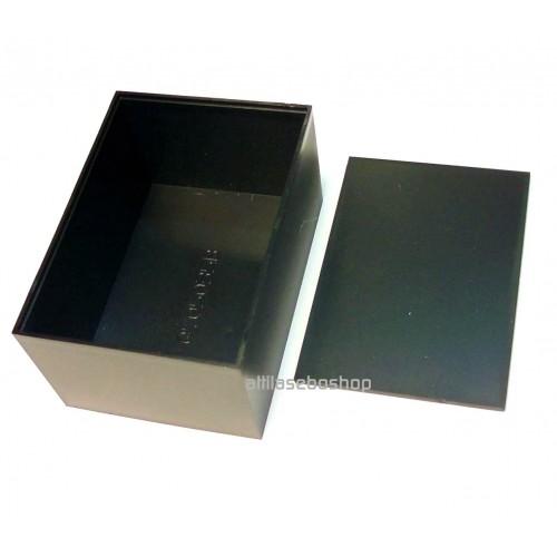 plastic potting box 70 x 50 x 35 mm  black G705035B with cover MULTICOMP